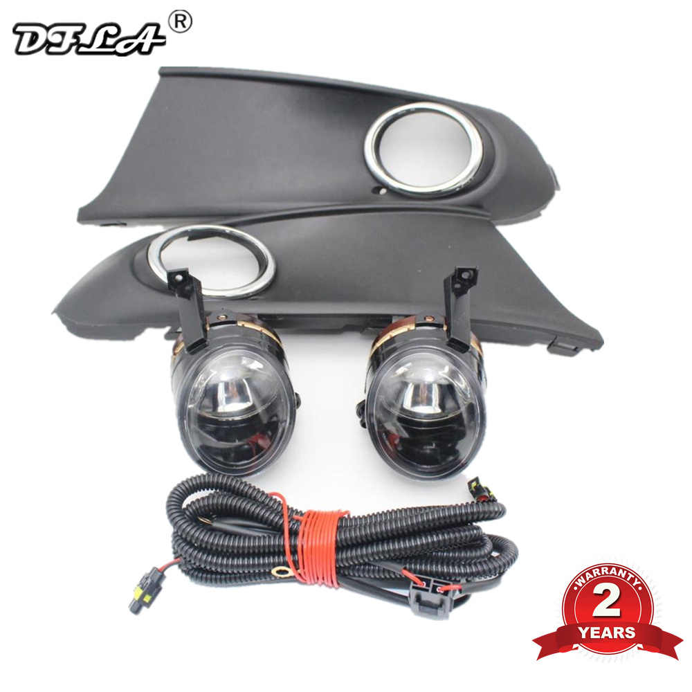 Untuk VW POLO Vento Sedan Saloon 2011 2012 2013 2014 2015 2016 Depan Halogen Kabut Lampu Kabut + Grille dan Harness Assembly