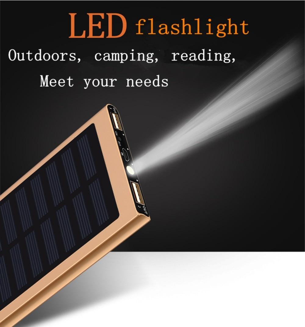 Ultra Slim LED backlight lights Solar Power Bank with Slim External Powerbank 20000Mah solar for power bank  Battery Packs portable solar power meter for solar research and solar radiation measurement sm206