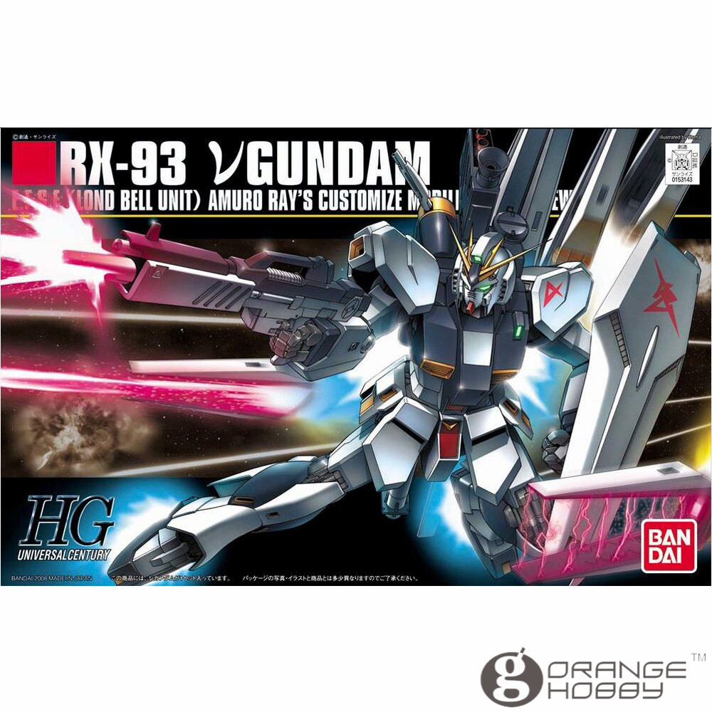 OHS Bandai HGUC 086 1/144 RX-93 Gundam Mobile Suit Assembly Model Kits купить