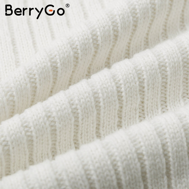 BerryGo Two-piece women knitted dress set Elegant autumn winter sweater dress suits Long sleeve button sashes female skirt suit 11