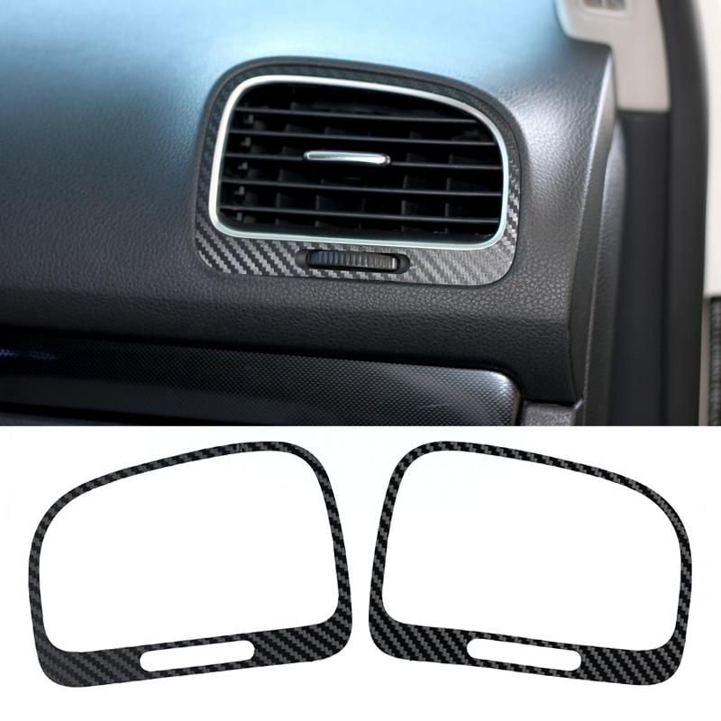 Carbon Fiber Vinyl Film Car Stickers Waterproof Car Styling Wrap Fit For Volkswagen VW Golf 6 MK6 GTI