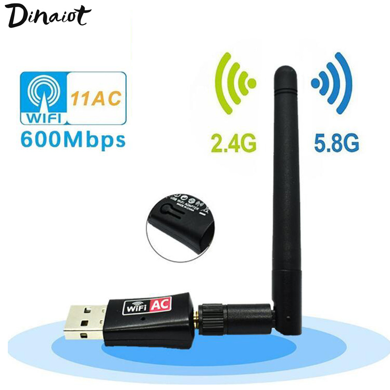 Dual-band Wireless Network Card 600Mbps Wireless Transmitter 5Ghz 2.4Ghz Receiver USB Dongle Wifi Adapter For Laptop/PC