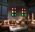 Loft air antike bars verkehrs lichter signal LED glas anhänger licht bar hängen beleuchtung