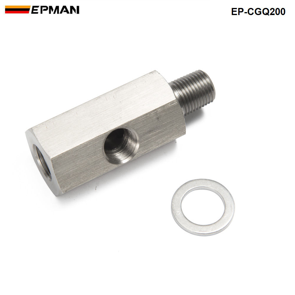 Metric Adapter / Oil Pressure 1/8 NPT female X M10 M10X1 male & Female Tee L-48 EP-CGQ200