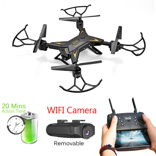 JJRC RC Helicopter Drone with Camera HD 1080P WIFI FPV Selfie Drone Professional Foldable Quadcopter about 20mins Battery Life