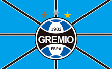 Football flag Size 3ft*5ft 90*150cm soprts custom flags banner Brazil (Brazilian Sports Club) Gremio(China)
