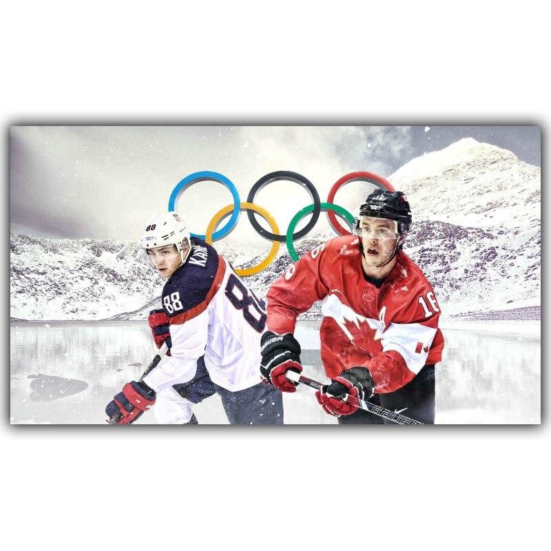 olmpico hockey poster tamaos de tela de seda impresin del cartel de la lona decoracin del hogar yd
