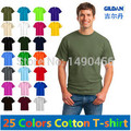 2016 Fashion Fitness Men's Short Sleeve T-shirts Casual T Shirts for Men Tshirt Blank Solid Color Cotton Clothes loose Tops