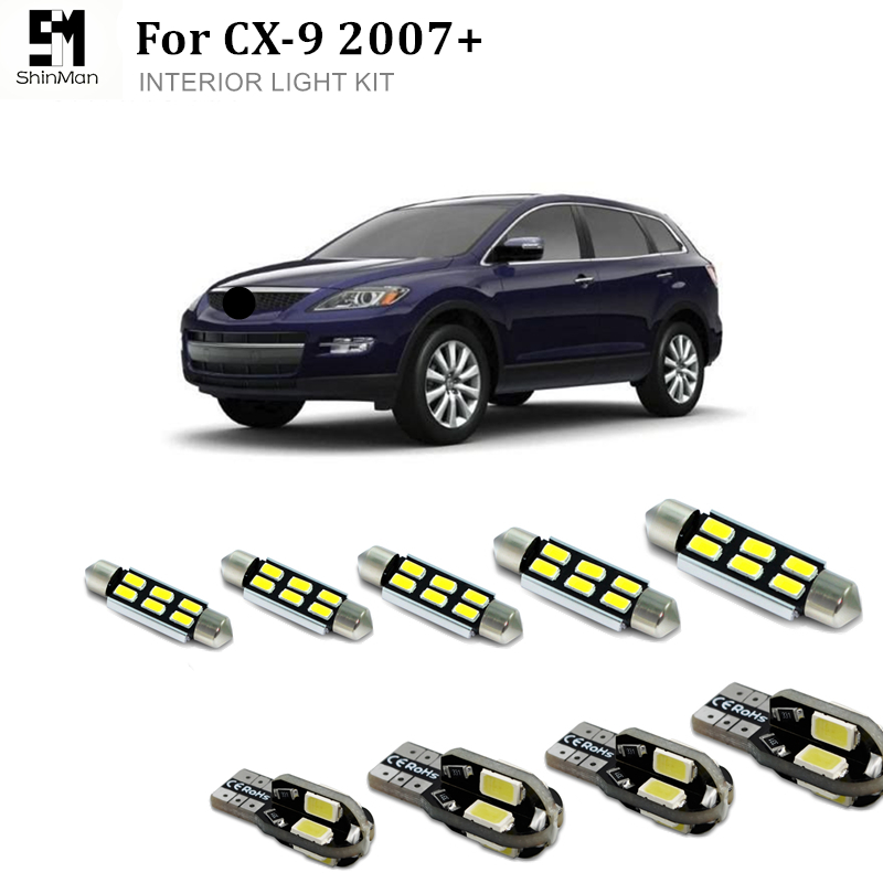 9X canbus LED Interior Light Kit for <font><b>mazda</b></font> CX9 <font><b>CX</b></font>-<font><b>9</b></font> 2007+ Error Free led dome lightcar accessories free shipping image