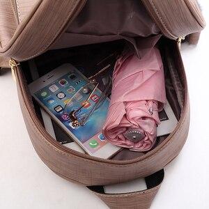 Image 2 - Amberler plecaki damskie ze skóry PU wysokiej jakości torby szkolne dla nastoletnich dziewczęca torba podróżna nowe damskie torby na ramię 3 sztuki