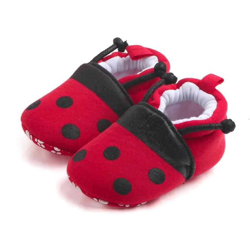 CHAMSGEND Lovely Toddler First Walkers Baby Shoes Round Toe Flats Soft Slippers Shoes  Non-slip Footwear Crib Shoes DropShip