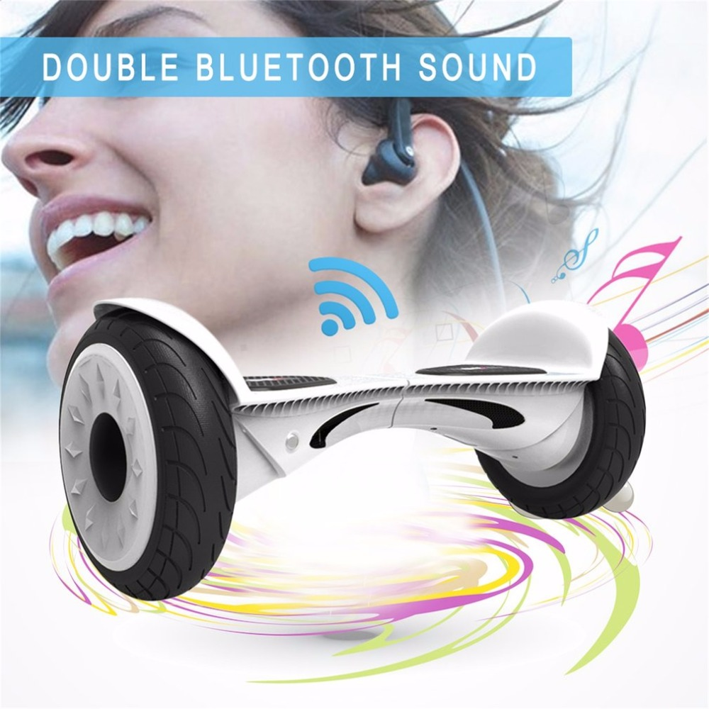 10.5 inch X1 Hoverboard Electric Two Wheels Scooter Gyroscope Skateboard with Double Bluetooth Speaker For Kids As Best Gift high quality diy electric scooter plastic cover hoverboard outer shell electric standing scooter case for 10 inch hoverboard