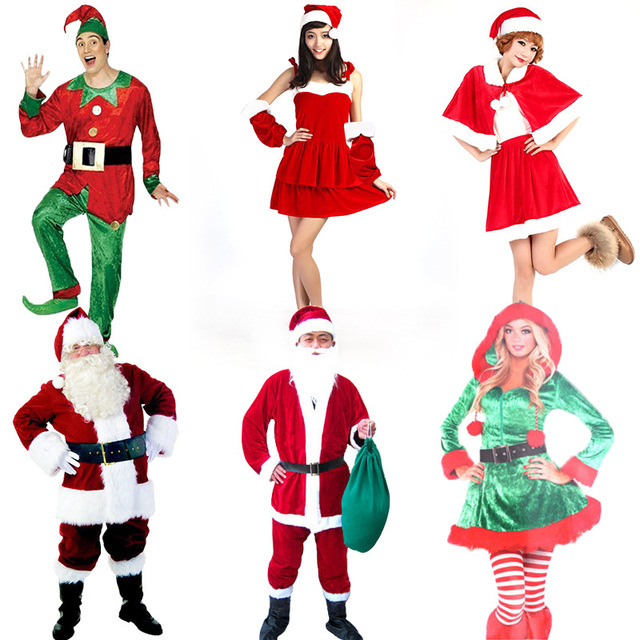 Anime Cosplay for Santa Claus Sets with Christmas Hat Dress Bag ...