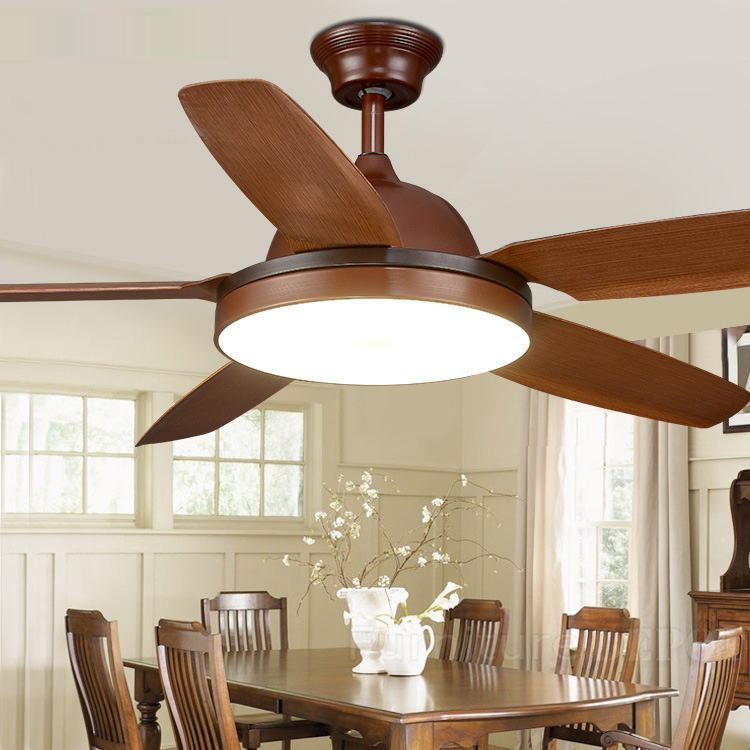 56 inch Dining Room Ceiling fan light With remote control European Fan Lamp  Living Room Ceiling Fan Light Bronze