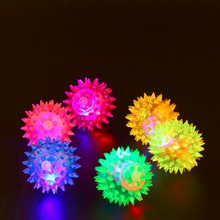 Мигающий светильник, высоко прыгающие шарики, новинка, сенсорная милая собака, щенок, кошка, питомец, ежик, мяч, креативная забавная игрушка для игры