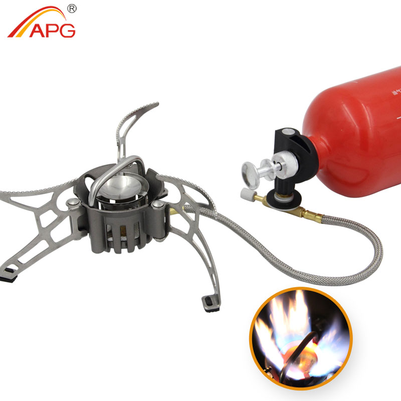 APG newest outdoor petrol stove burners and portable  oil and gas multi fuel stoves apg 1100ml camping gas stove fires cooking system and portable gas burners
