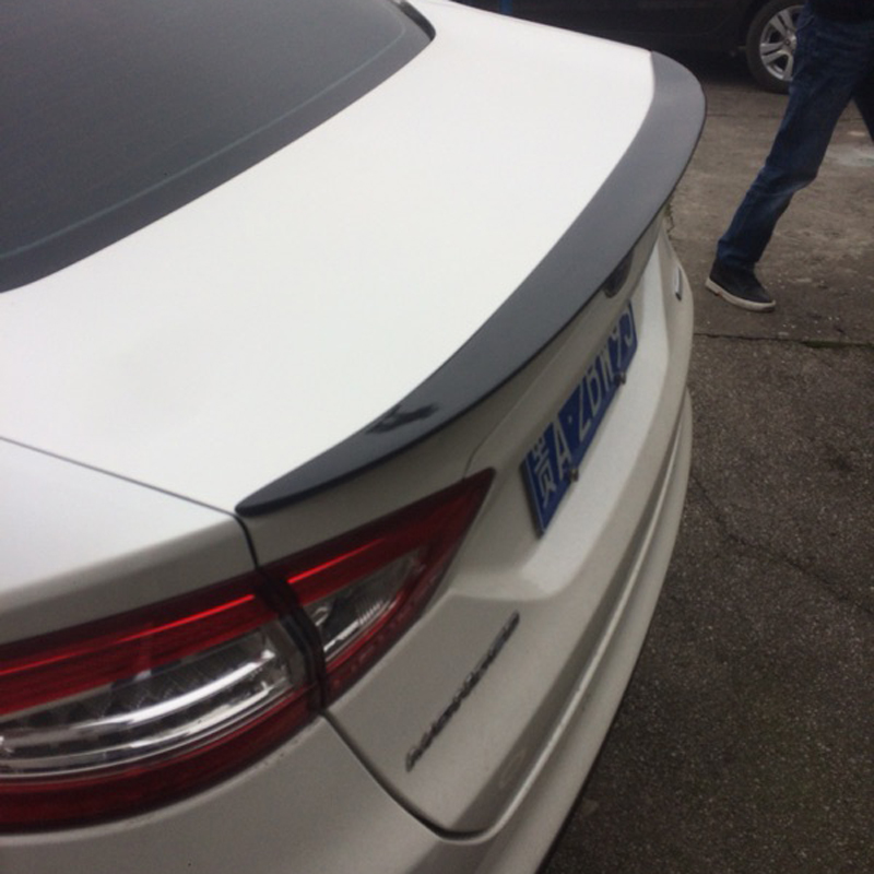 Fit For Ford Mondeo/Fusion Spoiler 2013 2014 2015 Car High Quality Black Carbon Fiber Rear Wing Spoiler for ford fusion mondeo 2013 2014 2015 control glass water panel protective film stickers carbon cover