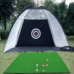 Indoor Outdoor 2 m*1.4 m*1 m Golf Swing Practice Net Golf Training Hitting Cage Garden Grassland Practice Tent Training Aids
