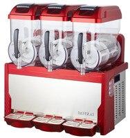 2017 New Slush Machine 15L*3 Cold Drink Dispenser 110V/220V Snow Melting machine Ice Slush Smoothies Machine