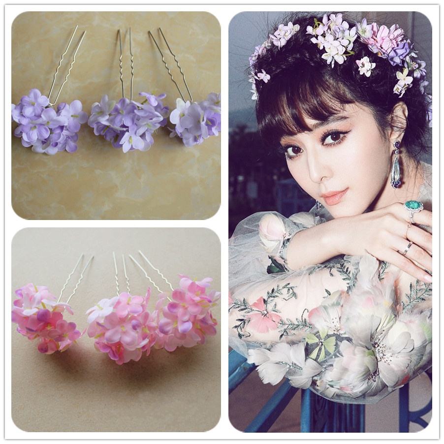 Fashion Silk Wedding Bridal Flower Hair Pin Artificial Flower