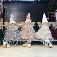 Colgante de decoración navideña Linda muñeca de Ángel 2019 adorno colgante de árbol de navidad decoración de navidad para navidad en casa