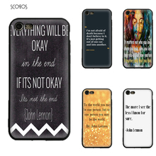 JOHN LENNON QUOTES Silicone TPU Phone Case Soft Cover For Iphone X 5 5S Se 6