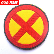 GUGUTREE embroidery HOOK&LOOP x patch flag patches badges applique for clothing AD-295