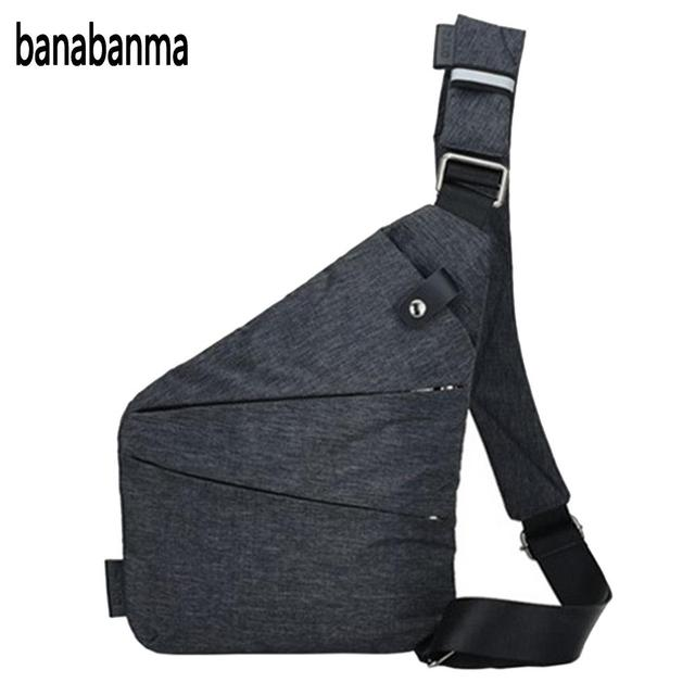 ff56dced96 banabanma Men Sling Casual Bag Messenger Anti Theft Oblique Cross Chest Bag  Pack Single Shoulder Pack with Magnetic Buckle ZK30