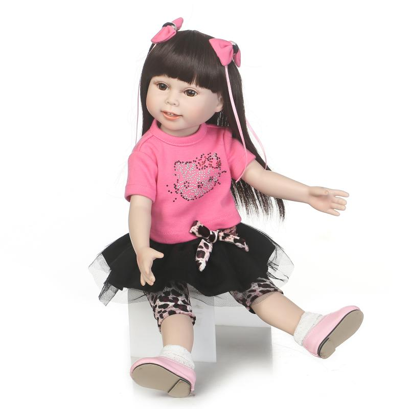 New 18 American Girl Doll Toys with Full Vinyl Body Princess Baby Toy Dolls for Girls Brinquedos Kids Birthday Christmas Gifts new winter american girls doll full vinyl girl princess doll windbreaker coat lifelike toy 18 inch 45 cm perfect birthday gift