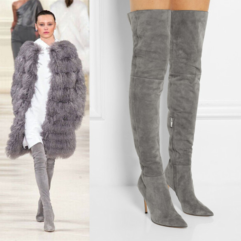 Popular Suede Thigh Boots-Buy Cheap Suede Thigh Boots lots from ...