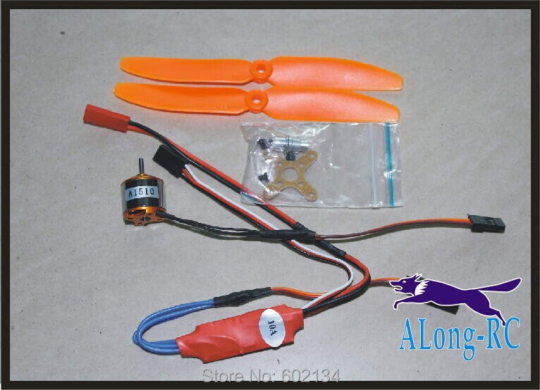 free shipping XXD1510 BRUSHLESS  MOTOR +10A ESC  SET/ for MINI airplane/rc model/MINI war  plane/good power