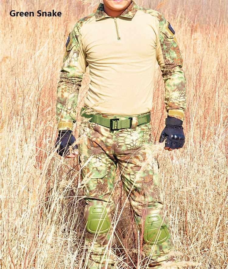 Армейские форма Gen3 рубашка + Штаны Военная Униформа армия костюм с наколенниками MultiCam единый набор Тактический тренинг одежда комплект