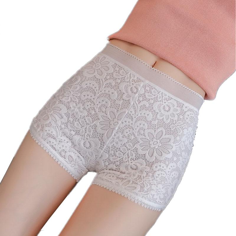 CUHAKCI Summer Women Shorts Floral Elastic Waist Short Lace Shorts White Flowers Ladies Thin Black Skinny Mesh Shorts XXL-4XL