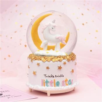 LED Night Light Unicorn Music Box