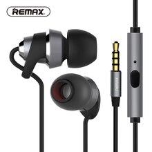 Фотография REMAX Metal in-ear hifi Earphones with hd mic Stereo Noise isolating fone de ouvido BASS Metal DJ Headset auriculares audifonos