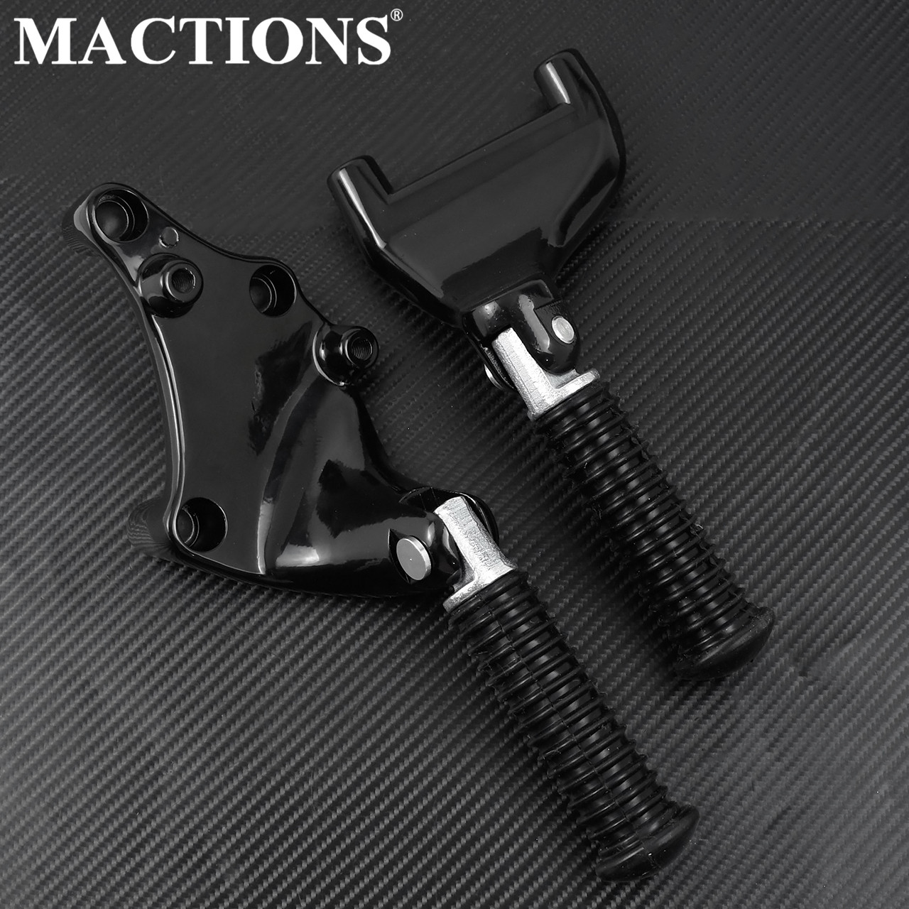 Motorcycle Black Passenger Rear Foot Pegs Pedal For Harley Sportster 883 Iron 1200 XL 48 72 Custom  Roadster 2014-2017 2018 2019