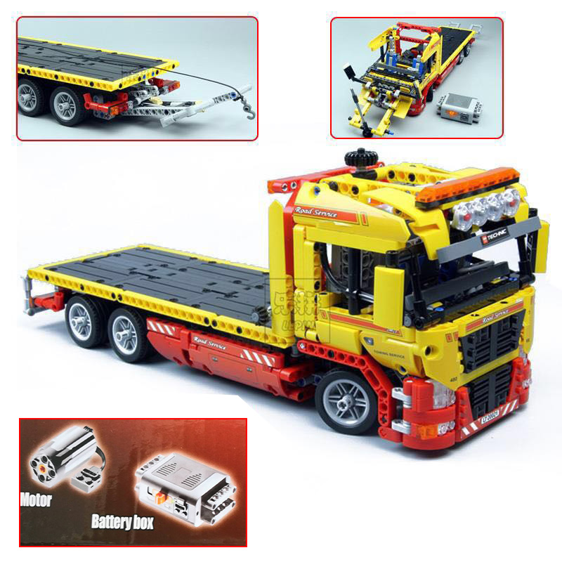 In stock 20021 Technic series Flatbed Truck Model DIY Building Blocks set Compatible 8109 Classic Car Styling Toys for children