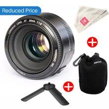 Ulanzi Yongnuo YN50mm F1.8 AF MF Lens YN 50mm Auto Focus Lens for Canon EOS DSLR Cameras 60D 70D 5D2 5D3 600D w Bag Mini Tripod