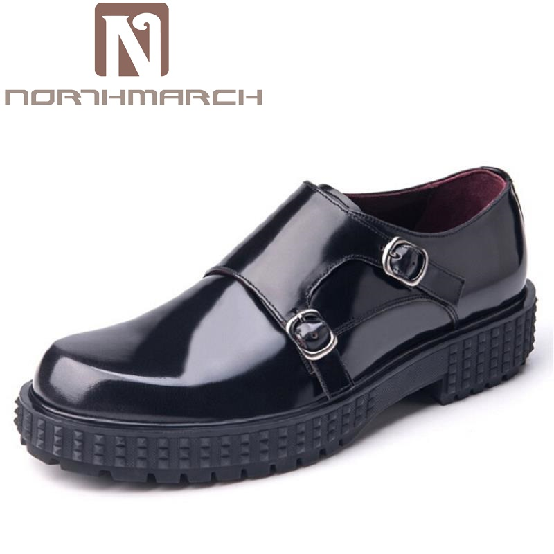 NORTHMARCH High Quality Genuine Leather Men Formal Shoes Luxury Brand Party Weddings Burgundy Buckle Men Dress Shoes AyakkabiNORTHMARCH High Quality Genuine Leather Men Formal Shoes Luxury Brand Party Weddings Burgundy Buckle Men Dress Shoes Ayakkabi