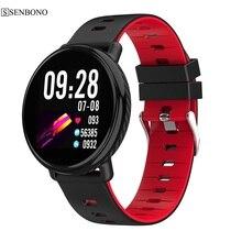 Senbono K1スマート腕時計IP68防水ips色画面のハートパルスレートモニターフィットネストラッカースポーツスマートウォッチpk CF18 CF58