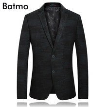 Batmo 2018 new arrival high quality printed casual blazer men,men's casual jackets ,men's suits plus-size 1833