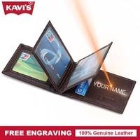 KAVIS Cow Genuine Leather Credit Card Holder 14 Card Slot Gift Men Women Business Purse ID