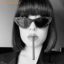 Long Keeper Small Triangle Cat Eye Sunglasses Women Fashion Vintage Eyeglasses Female 2018 Stylish Sun Glasses UV400 Goggles