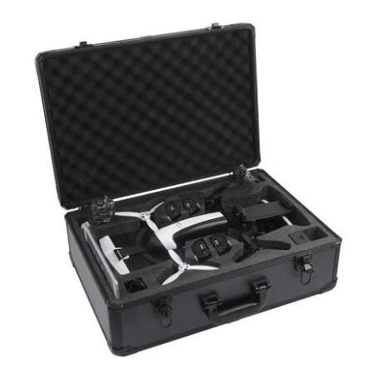 Aluminum Storage Case For Parrot Bebop 2.0 Drone FPV Version Handheld Remote Controller+VR Glasses Storage Carry Case Collection dual rc drone remote controller carry hard aluminum case for futaba18mz 10c 8fg 8j t6k 14sg 10j