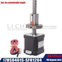 17hs8401s 48mm nema 17 stepper motor with ballscrew sfu1204 motor for CNC engraving machine or precision machine