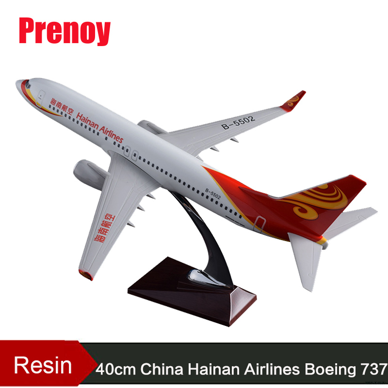 40cm Resin Hainan Air Aircraft Model Boeing 737 Airplane Model Hainan Airways Airbus Plane Model China B737 Aviation Collection geminijets gjdlh1326 b737 300 d abee 1 400 lufthansa commercial jetliners plane model hobby