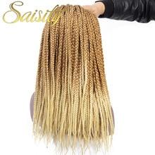 Saisity Crotchet волосы объемные косы микро бокс коса наращивание волос крючком Омбре синтетические косички волос