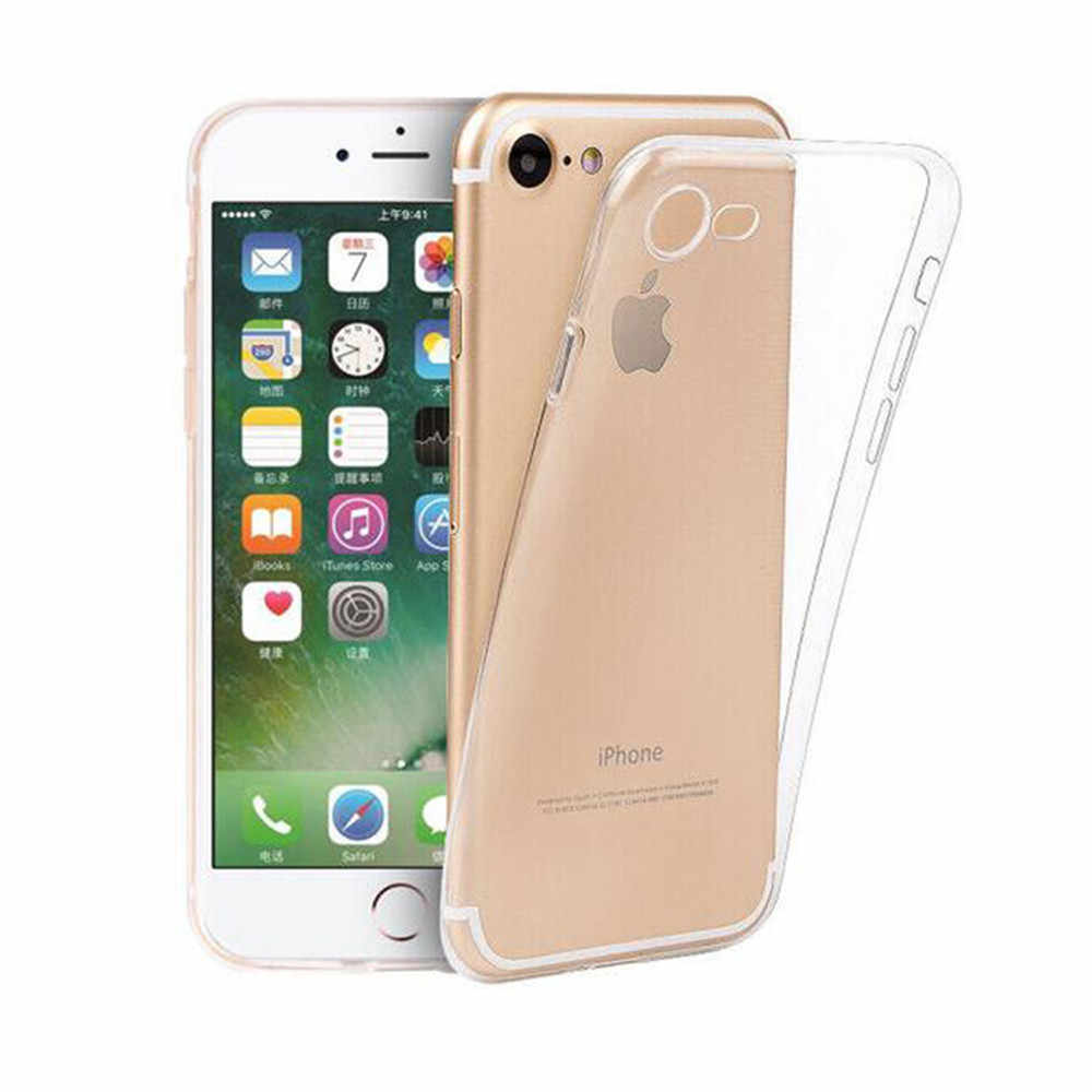 Luxe Transparant Siliconen Telefoon Case Voor iPhone 11 Pro X XS XR XS Max 5S 8 7 Plus 6 6S Clear protection Cover Voor Iphone 7plus