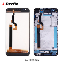 For HTC Desire 825 10 Lifestyle LCD Screen Display Touch Digitizer Monitor Assembly Replacement with Frame 5.5'' Original Black original for htc desire 400 lcd display digitizer touch screen assembly with frame black free shipping