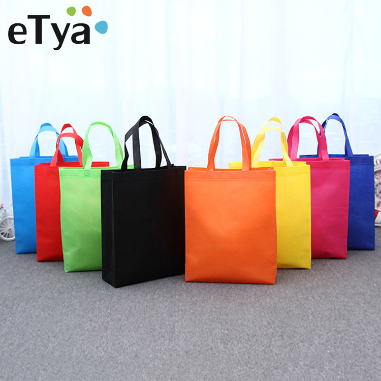 ETya Portable Foldable Shopping Bag Large Women Storage Handbags Shoulder Bag Reusable Tote Pouch Travel Organizer Shopping Bags